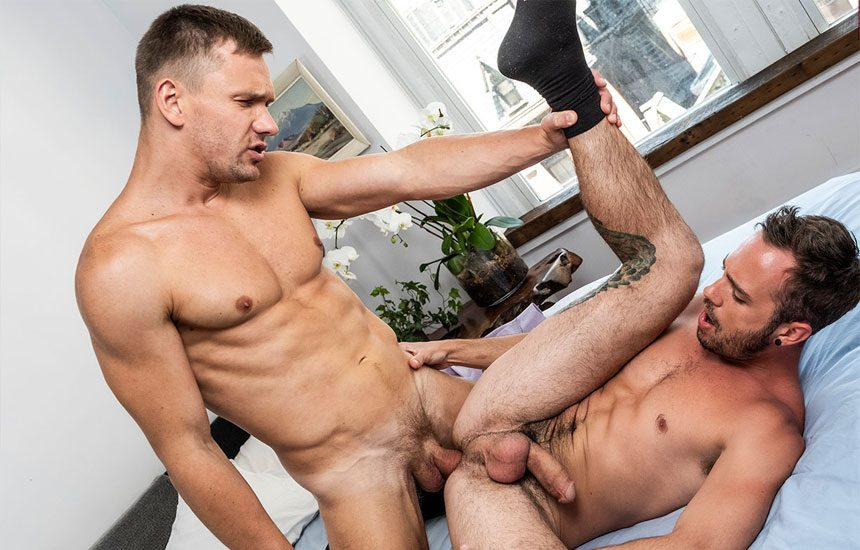 "Lucas Entertainment: Drake Rogers bottoms for Andrey Vic in ""Executive Authority"" (scene 3)"