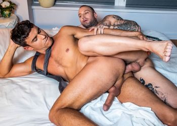 "Lucas Entertainment: Dylan James fucks Rafael Carreras in ""Executive Authority"" (scene 4)"