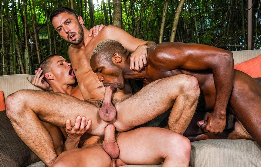 "Andre Donovan, Ruslan Angelo & Shane Jackson fuck in ""Fucking Show-Offs"" (scene 2)"