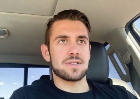 Next Door Studios: Dante Colle rubs out a load while driving his car