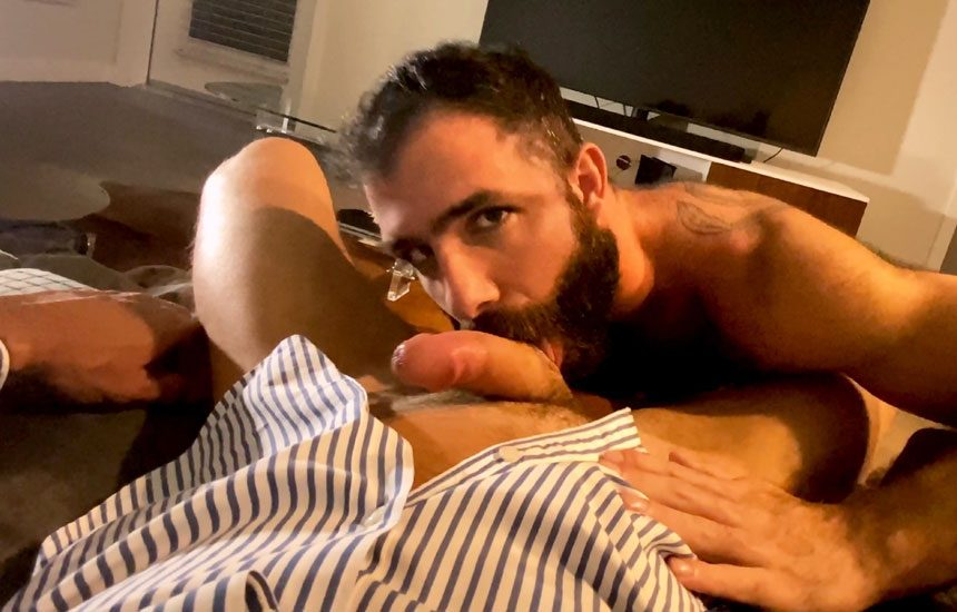 "Raging Stallion: Jake Nicola sucks Vince Parker off and eats his load in ""Private Dancer"""