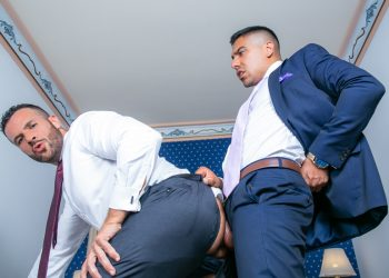 "Men At Play: Salvador Mendoza fucks hot handyman Denis Vega in ""Suited Handyman"""