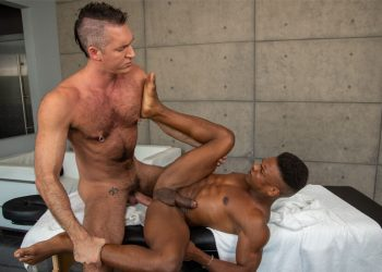 "Noir Male: Silver Steele stretches Adrian Hart's hole in ""The Wrong Rubdown"""