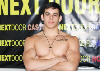 Next Door Studios: Young muscle hunk Toby Reed jerks off on the casting couch