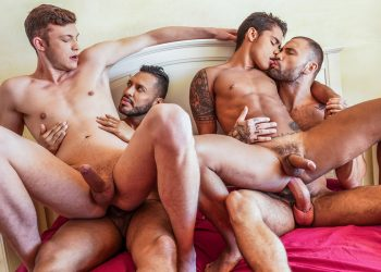 "Viktor Rom, Jeffrey Lloyd, Braxton Boyd & Randy Junior fuck in ""Daddy's in Charge"" (scene 3)"