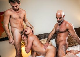 "Adam Russo, Max Adonis and Ruslan Angelo fuck in ""Daddy's in Charge"" (scene 4)"
