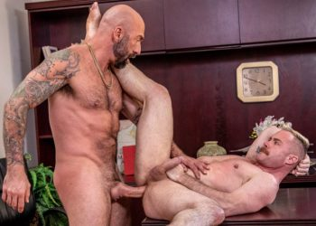 "Icon Male: Trent Atkins takes Drew Sebastian's thick cock in ""Bareback Bros"" (scene 2)"