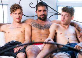 """Masqulin: Lev Ivankov and Edward Terrant have sex with Ryan Bones in """"Private Stripper"""""""