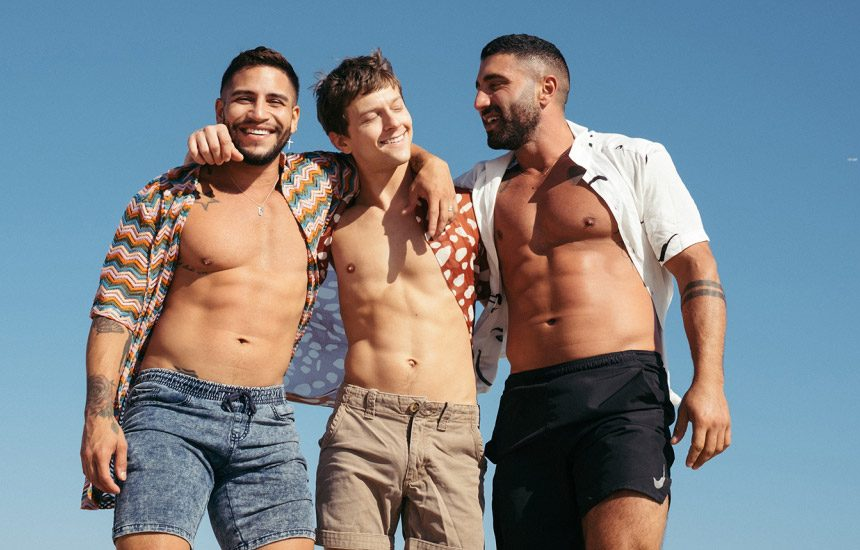 CockyBoys: Sharok teams up with Brock Banks and double-penetrate Austin Avery