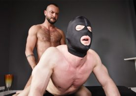 TimTales: Sir Peter gives masked muscle bottom Aron the pounding of his life