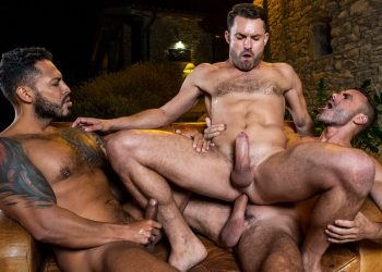 "Viktor Rom & Manuel Skye fuck James Castle in ""Ass Rammed Raw"" (scene 1)"