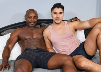 "Pride Studios: Aaron Trainer raw-fucks Latin bottom Adrian Suarez in ""Big Dick Deep Inside"""