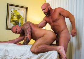 "Masqulin: Killian Knox barebacks Michael Roman in ""From Boss To Bottom"""