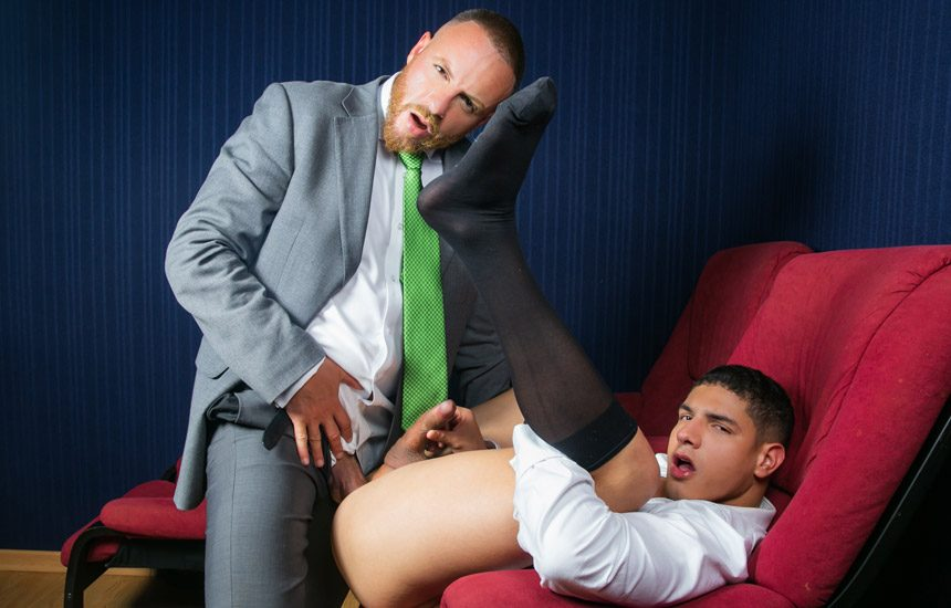 """Men At Play: Leo Rosso pounds Bastian Karim's greedy hole in """"Cine-X Chill & Play"""""""