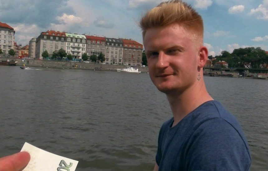 Czech Hunter #536: In order to support his girlfriend, Adrian goes gay for pay