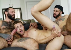 Dad Creep: Benjamin Blue gets fucked by stepdad Markus Kage and step-uncle Romeo Davis