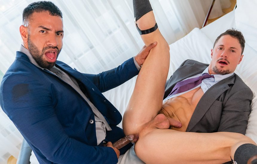 "Men At Play: Skyy Knox gets fucked by his boss Mateo Zagal in ""Fucking Raise"""