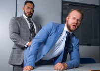 """Men At Play: Malek Tobias bottoms for colleague Viktor Rom in """"What's Your Cock Size?"""""""