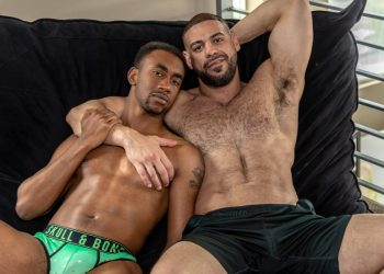 """Bucky Wright debuts at Noir Male and bottoms for Ricky Larkin in """"The Voyeur"""""""
