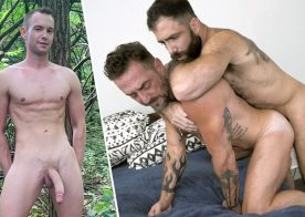 Pride Studios: Vince Parker and Jake Nicola flip-fuck and Trevor Ridge jerks off
