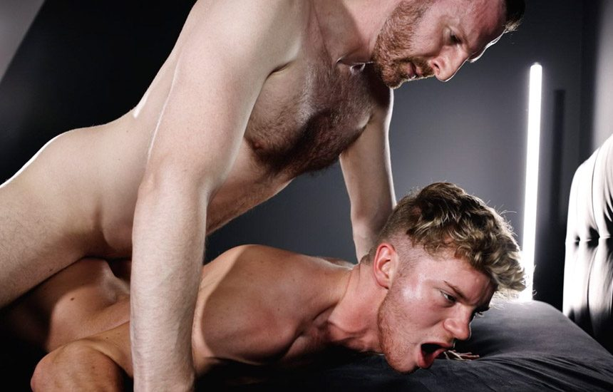 TimTales: Irish newcomer Dean Young takes Tim Kruger's huge raw cock