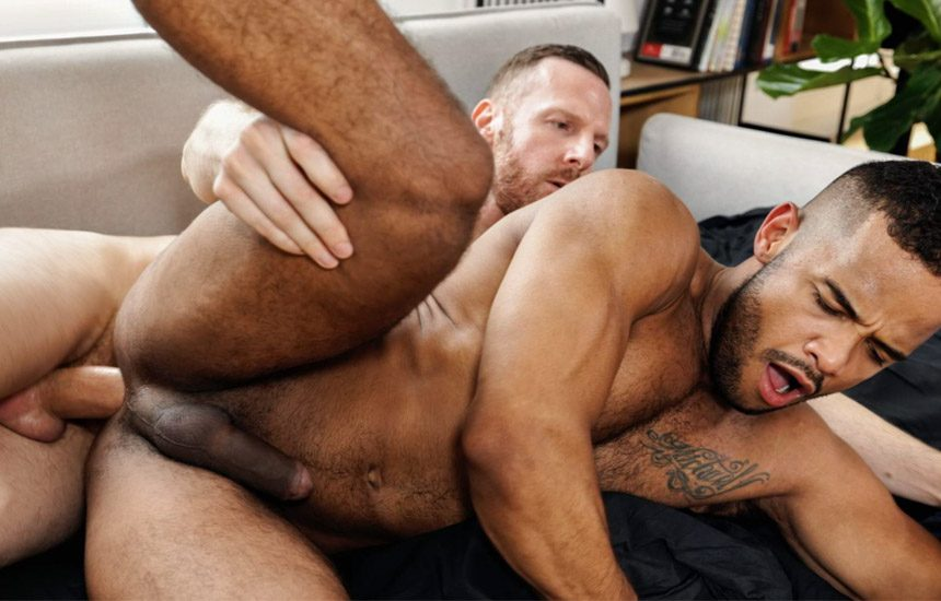 TimTales: Tim Kruger breeds Jonas' muscular Latino ass and feeds him his load