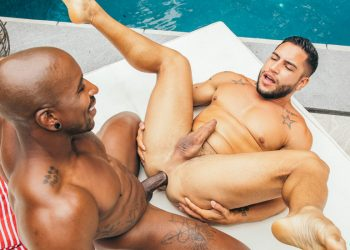CockyBoys: Max Konnor and Brock Banks in a bareback poolside fuck
