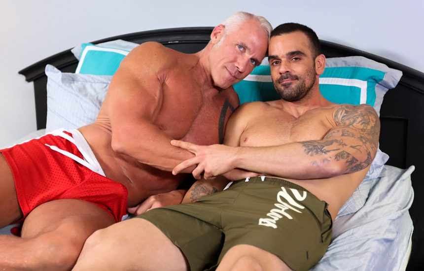 """Pride Studios: Damien Crosse bottoms for Dallas Steele in """"I Want It Rough And Raw"""""""