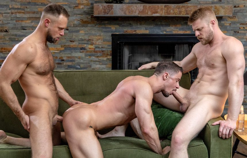"""Icon Male: Zayne Roman, Skyy Knox and Logan Stevens fuck in """"Uncles 3 Way"""""""