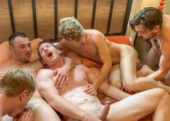 "Johnny Rapid has a bareback orgy with 5 hot guys in ""Johnny's Impromptu Orgy"""