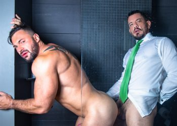 "Men At Play: Joe Gillis raw-fucks bodybuilder Cole Keller in ""Shower Play"""