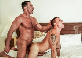 """Lucas Entertainment: Brent Everett & Nick Capra fuck in """"Quality Time With Daddy"""" (scene 1)"""