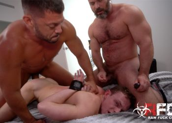 Raw Fuck Club: Owen Hawk and Tyler Roberts dominate and fuck Damaged Bottom