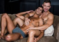 """Lucas Entertainment: Ray Crosswell bottoms for Andrey Vic in """"Bareback Auditions 11"""" (sc 2)"""