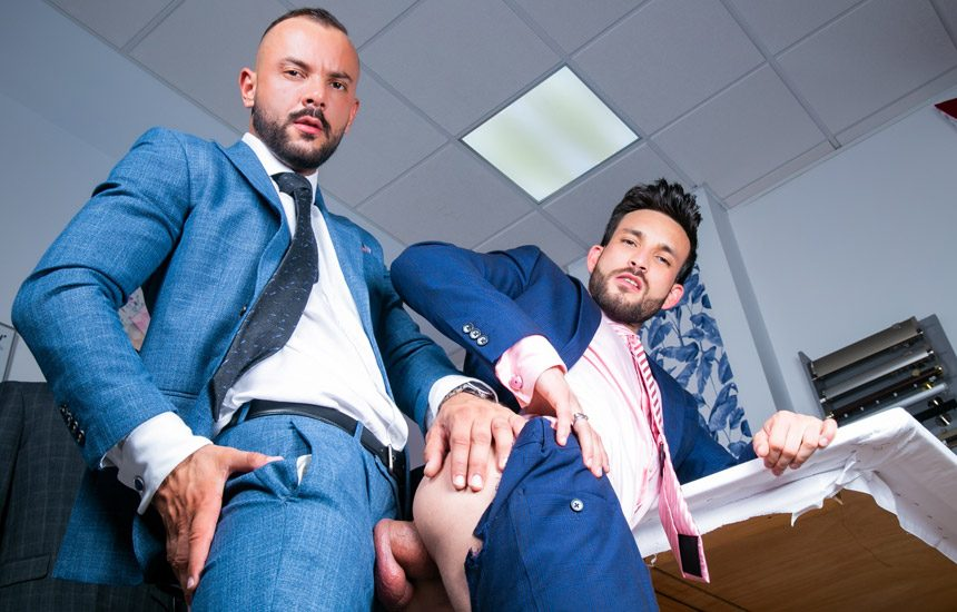 """Men At Play: Javi Gray gets fucked by Sir Peter in """"The Tailor and Sir Peter"""""""