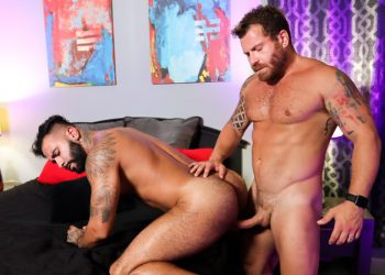 "Pride Studios: Rikk York and Riley Mitchel flip-fuck in ""Unmasked And Ready To Fuck"""