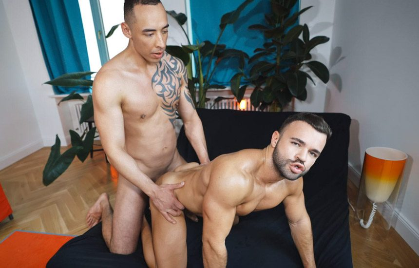 TimTales: Sean Austin bottoms for Tian Tao and takes his big raw dick