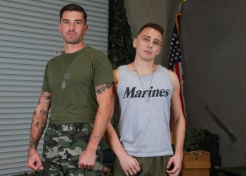 Active Duty: Newcomer Justin Lewis bottoms for inked top Chris Damned
