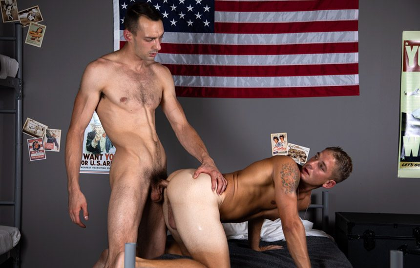 Active Duty: Johnny B dominates Brandon Anderson and fucks his bare hole
