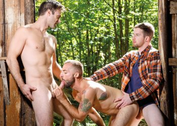 "Falcon Studios: Gabriel Clark, Jeremy London & Thyle Knoxx in ""Into The Woods"" (scene 1)"