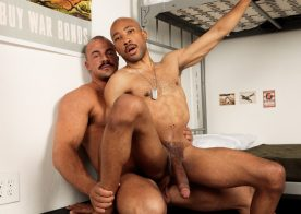 Active Duty: New recruit Dex Wade gets fucked by muscle stud Alex James