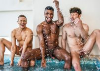 """Lucas Entertainment: Andre Donovan, Drew Dixon & Ethan Chase fuck in """"Bust A Nut"""" (sc 3)"""