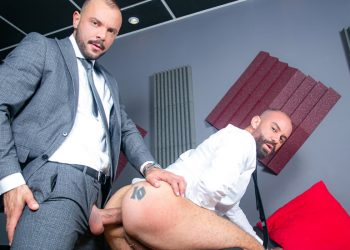 "Men At Play: Bruno Max enjoys Sir Peter's massive cock in ""Supporting Co-Worker"""