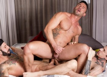 "Fuckermate: Robert Royal and Romeo Davis double-penetrate Andy Star in ""Double-Cocked"""