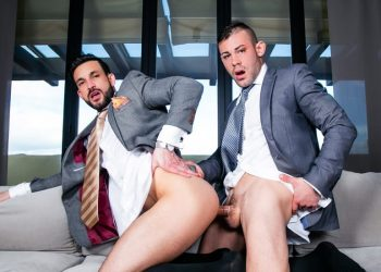 "Men At Play: Javi Gray takes Ricky Blue's big uncut cock in ""Never Back Down"""