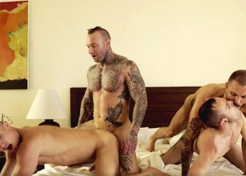 Lucas Entertainment: Dylan James and Jeffrey Lloyd fuck Drake Rogers and Ruslan Angelo
