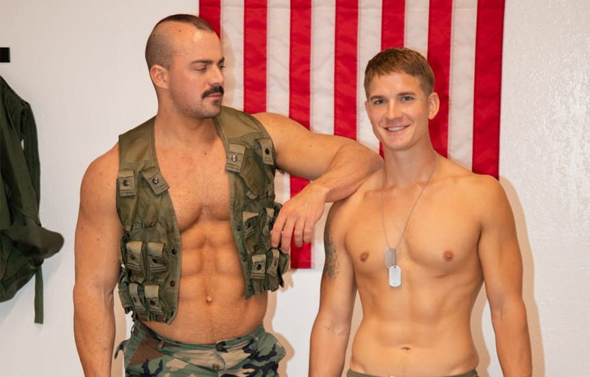 Active Duty: Brandon Anderson gets fucked by his muscular supervisor Alex James