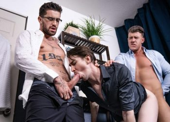 "MEN: JJ Knight and Chris Damned fuck Jack Hunter in ""Big Fuck-Up In The Kitchen"""