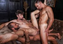 "Lucas Entertainment: Andrey Vic, Sir Peter & Drew Dixon fuck in ""Bareback Auditions 12"" (sc 3)"