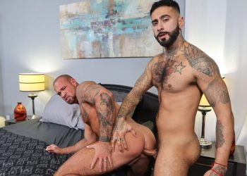 "Pride Studios: Rikk York fucks Michael Roman in ""Much Needed Tension Release"""